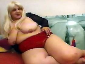 Thick blonde banged with two guys