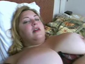 Two blacks hammer fat lustful slut