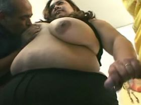 Colossal fatty slut in fuck and blow orgy