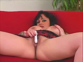 Tattooed obese girl in sexual games with old