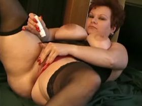 Mature breasty fat mom does blowjob in toilet