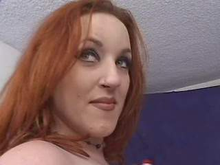 Chubby redhead babe with big tits fucks brains out