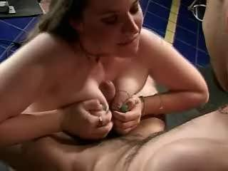 Sweet fatty fucking hard with trainer in gymnasium