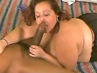 Sensual enormous mommy playing with dick