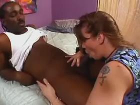 Pretty chubby honey gets drilled by black dude