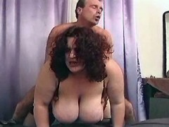 Mature fatty with big boobs fucking with dude