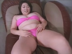 Chubby Asian fucking hard with black stud