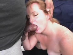 Huge housewife screwed by boyfriend on nature
